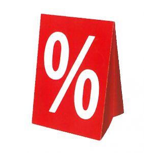 Kartonaufsteller Prozent