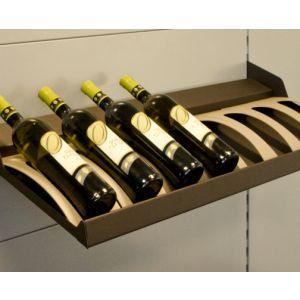 Weinflaschen-Fachboden mit 8 Flaschenwiegen