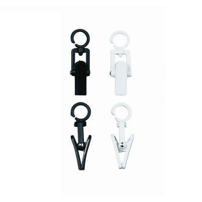 100 Stück Clever-Clip schwarz oder weiß