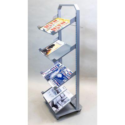 Prospektständer fahrbar mit Fußplatte
