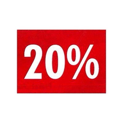 Rahmenschilder 20%