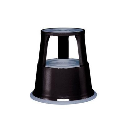 Rollhocker schwarz RAL 9005