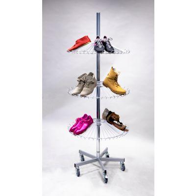 Schuhständer mit 3 Sombrero-Etagen