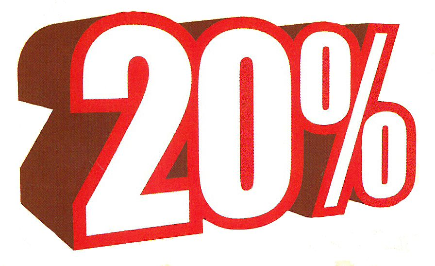 Ankleber 20%