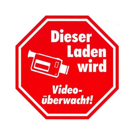 Ankleber Video-überwacht