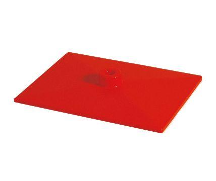 Fußplatte rot