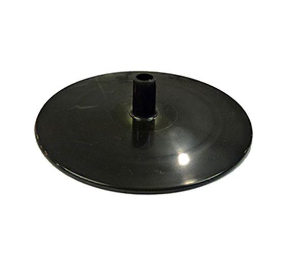 Fußplatte 160 mm schwarz