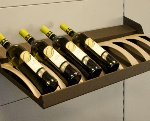 Weinflaschen-Fachboden mit Einlegeblech